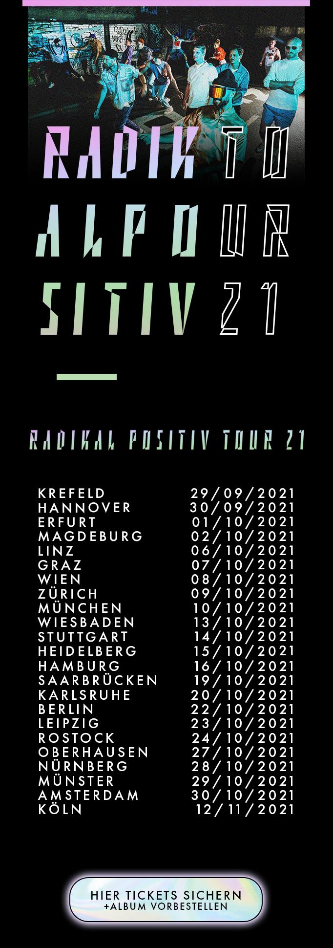 Querbeat Radikal Positiv Tour Termine Live 2021 Tickets